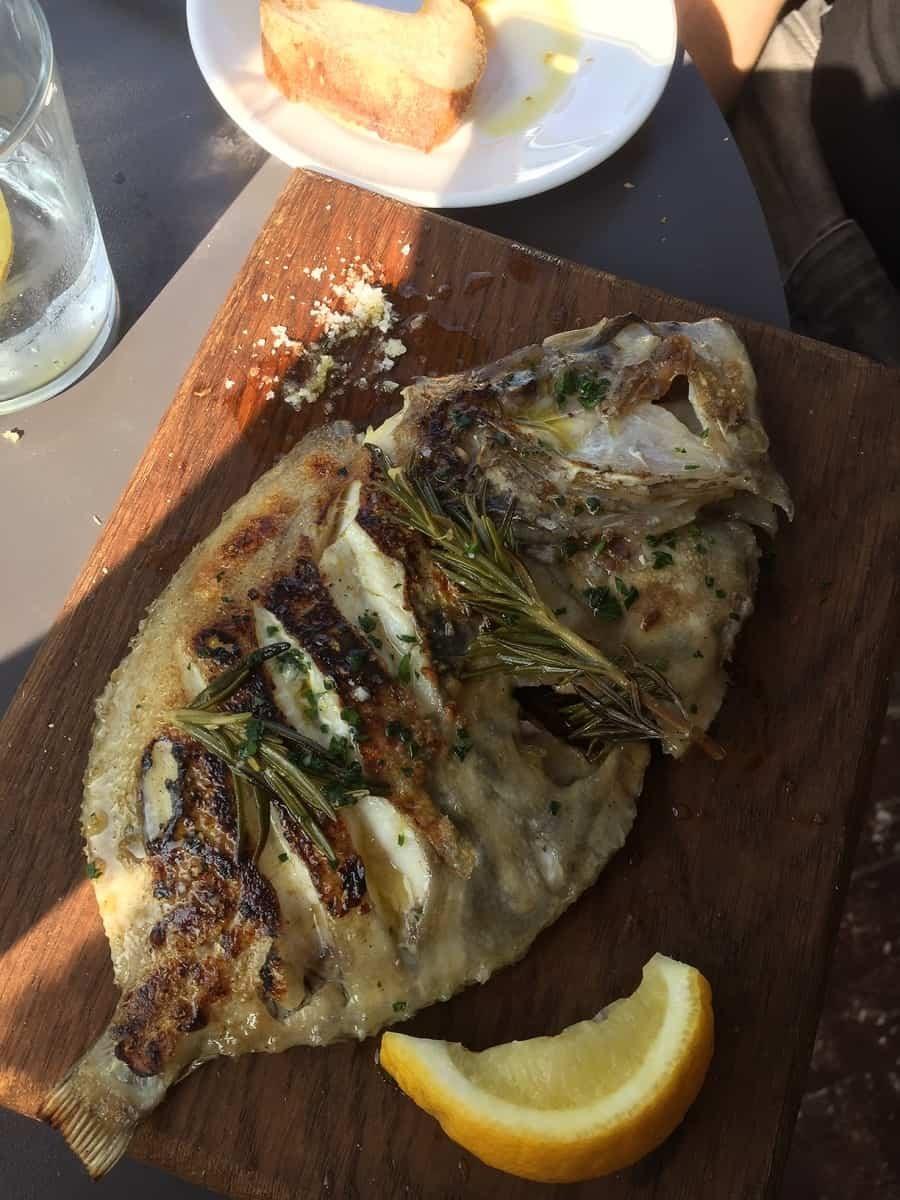 Fish at Gambas Bristol