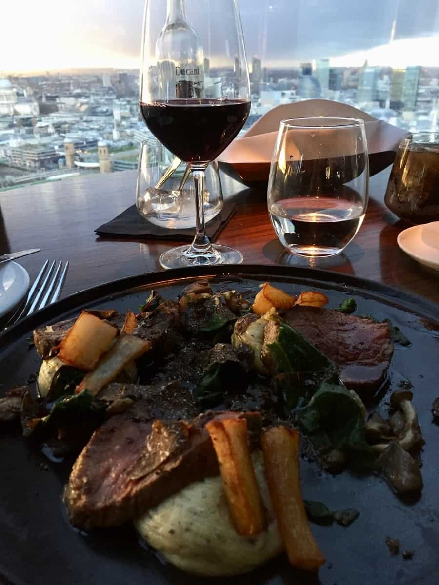 Dinner at Aqua Shard London