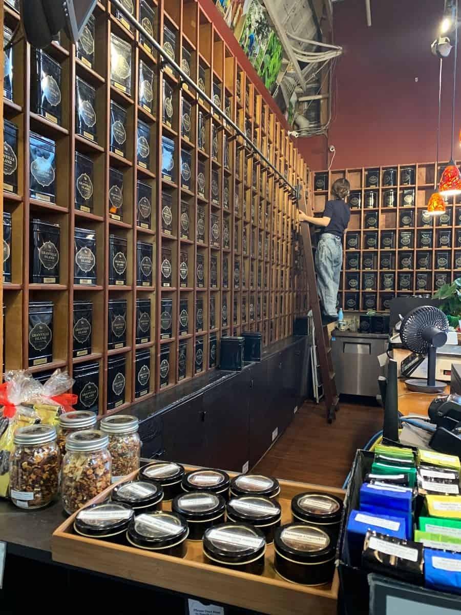 Tea stall at Granville Island