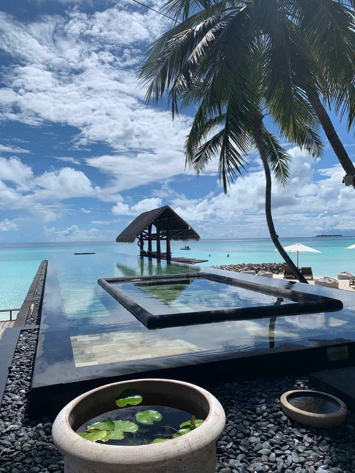 Infinity pool at Reethi Rah