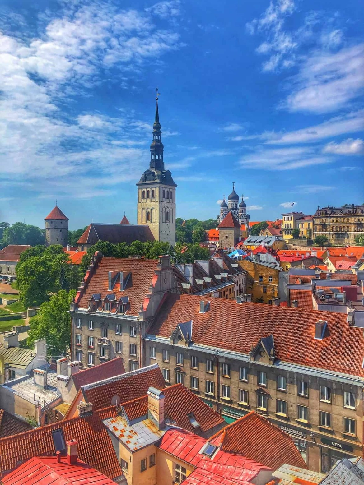 The view from Tallinn Town Hall and Tower.