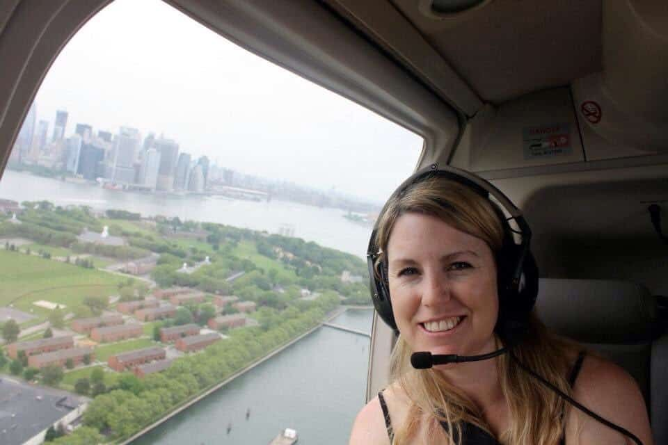 Helicopter ride in New York