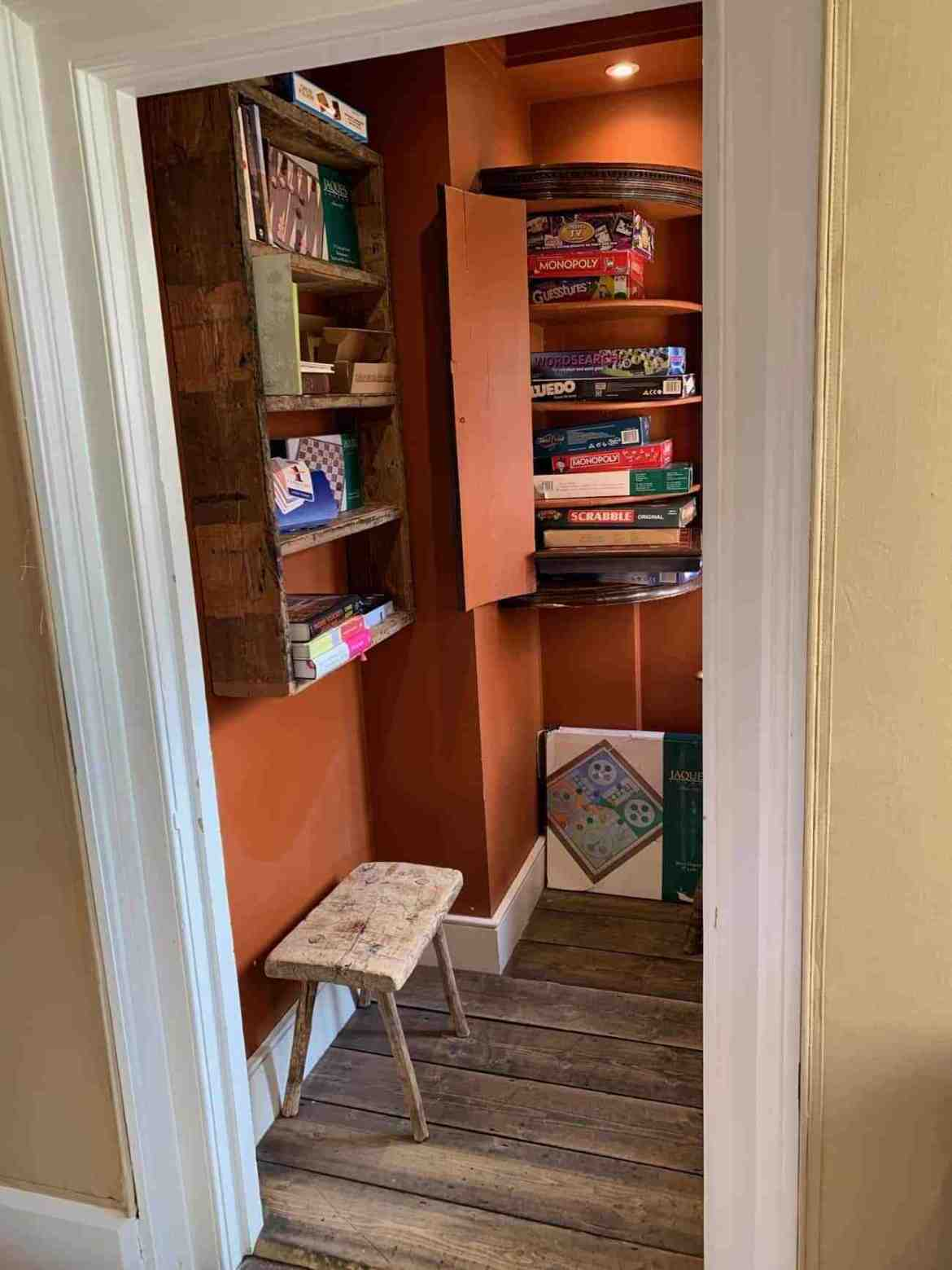 Board games nook