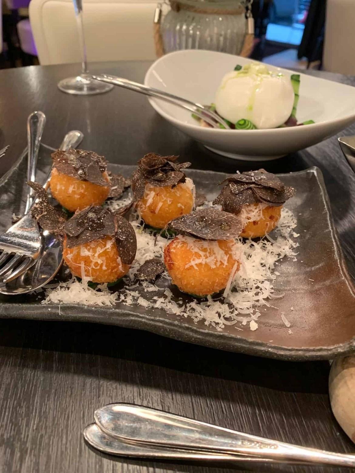 Winter truffle arancini from Babbo