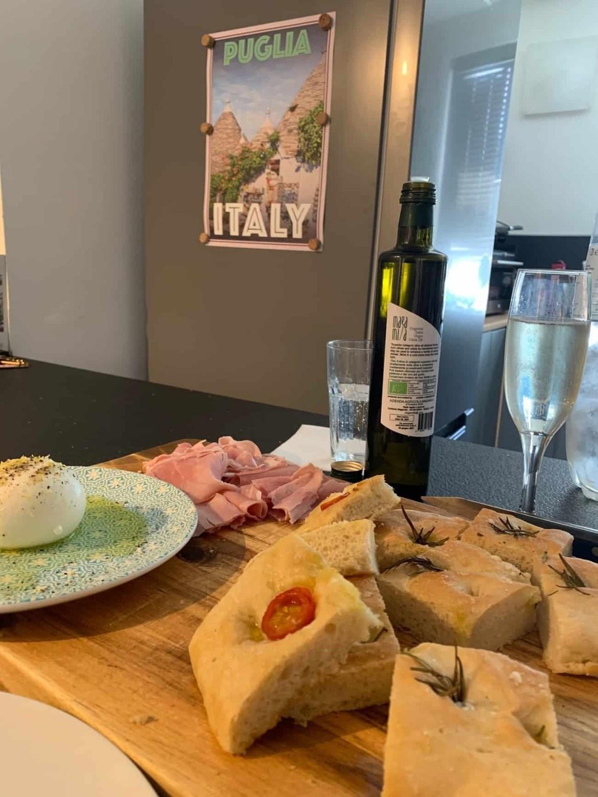 Homemade Italian focaccia