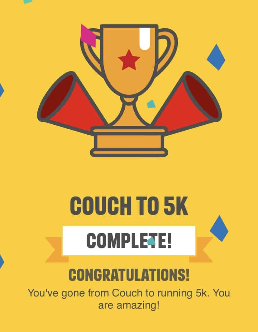 Completed Couch to 5k