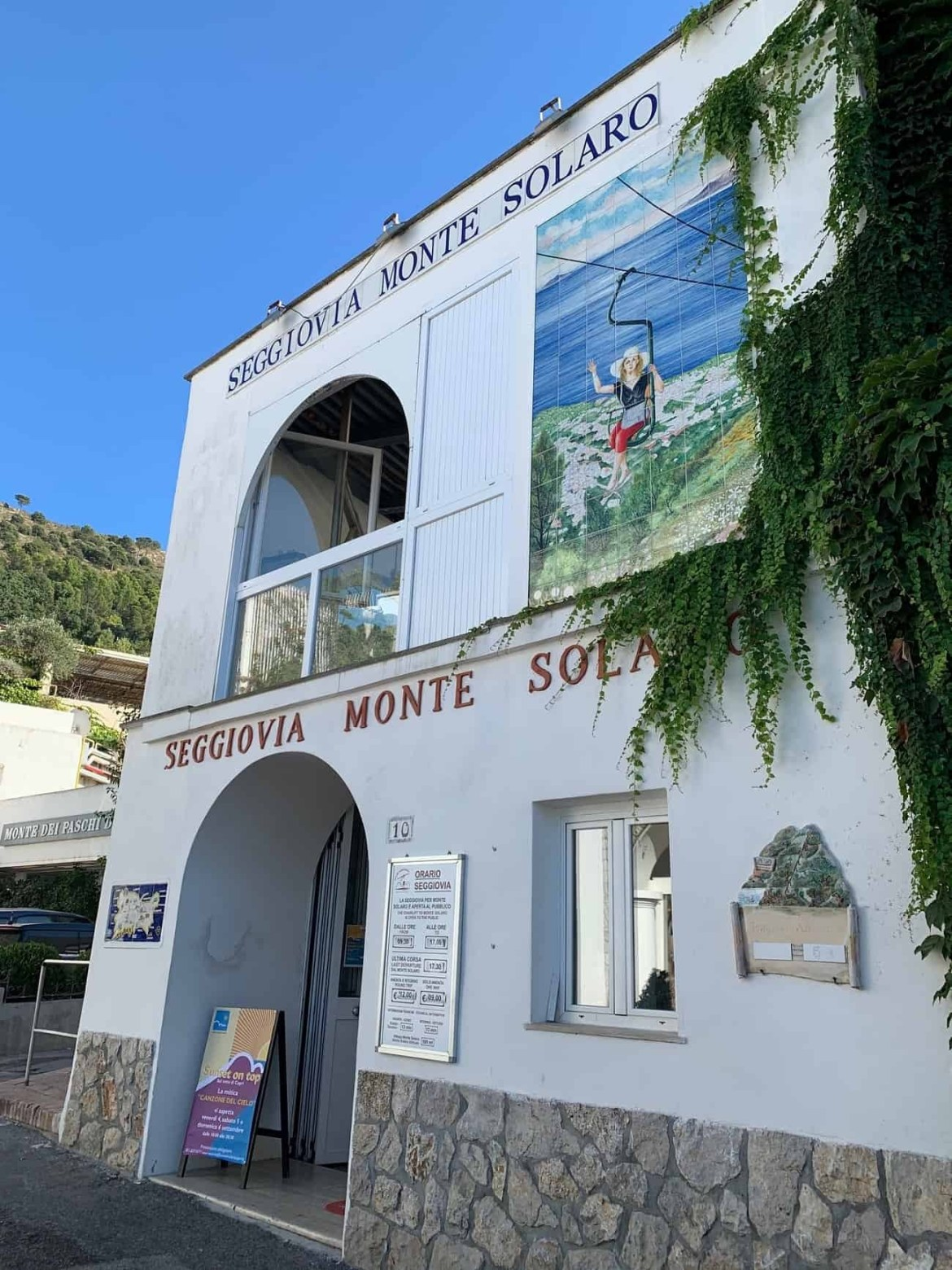 Entrance to Monte Solaro chair lift