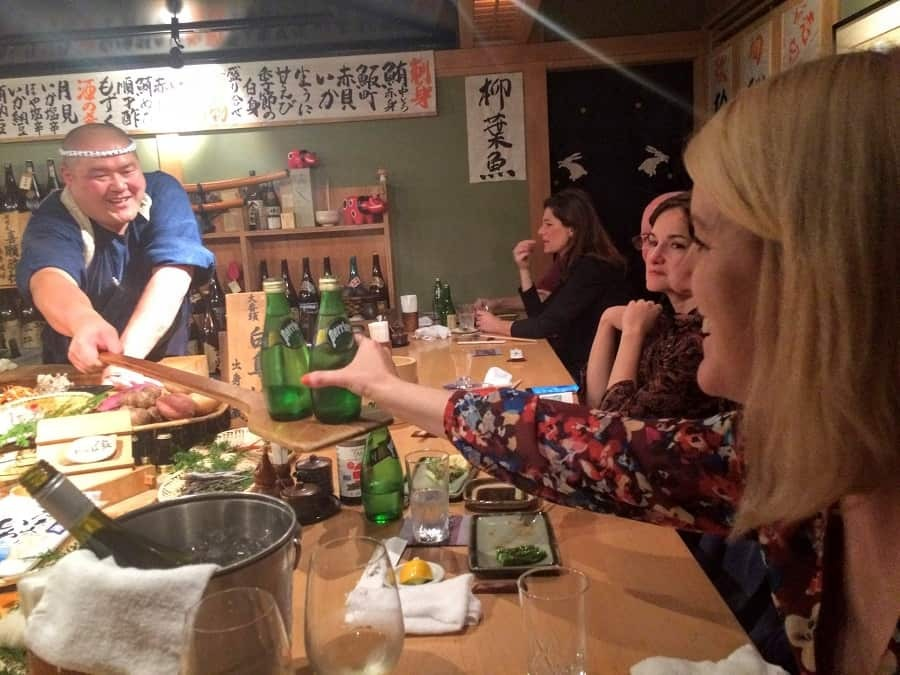 Eating Robata style in Tokyo