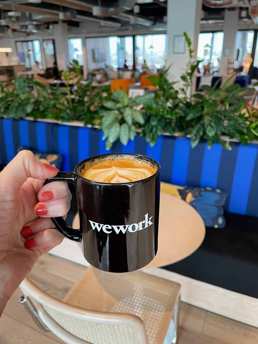Cappuccino from WeWork