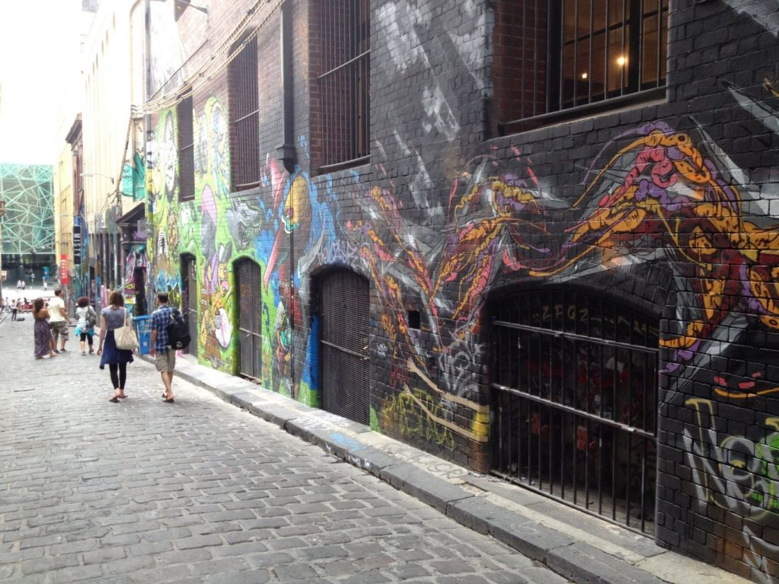 Street art on Hosier Lane
