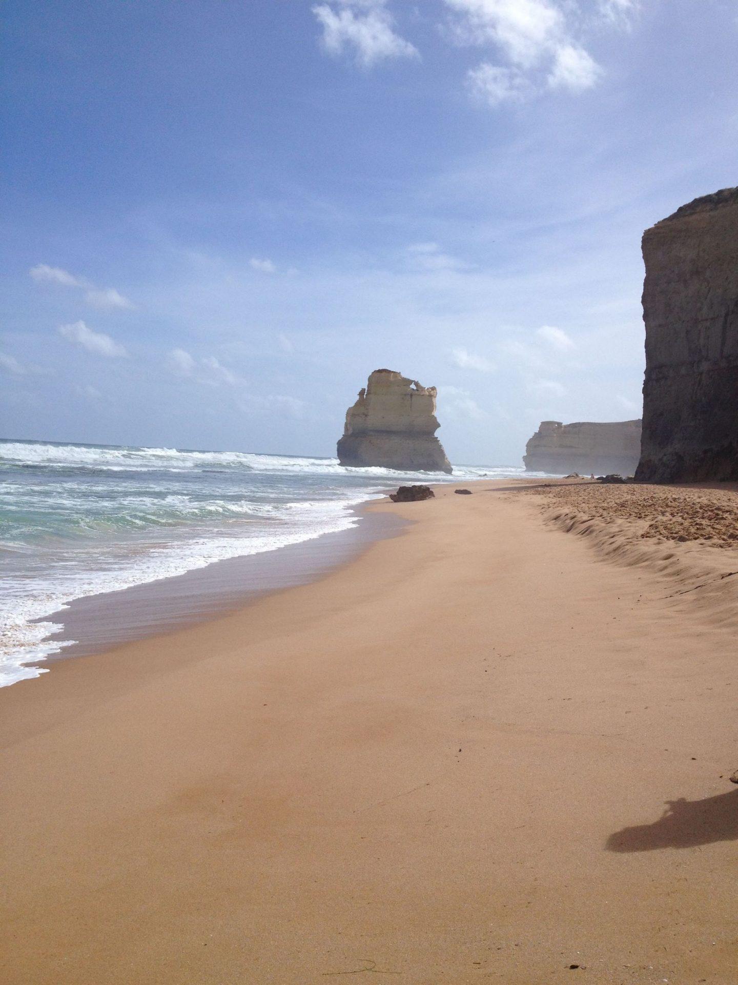 The Twelve Apostles beach