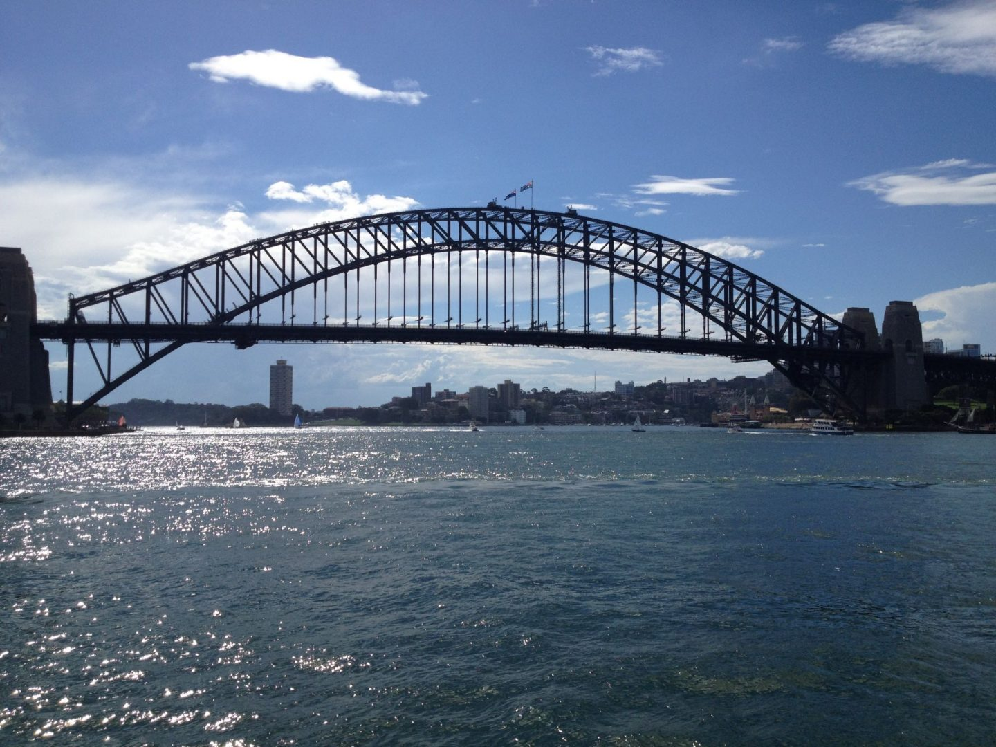 Sydney Harbour Bridge in the summer