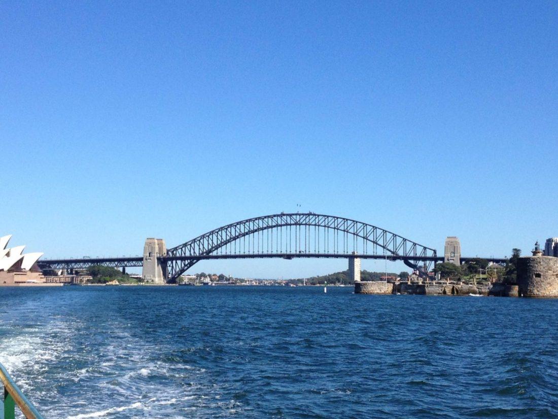 Sydney Harbour Bridge from the ferry