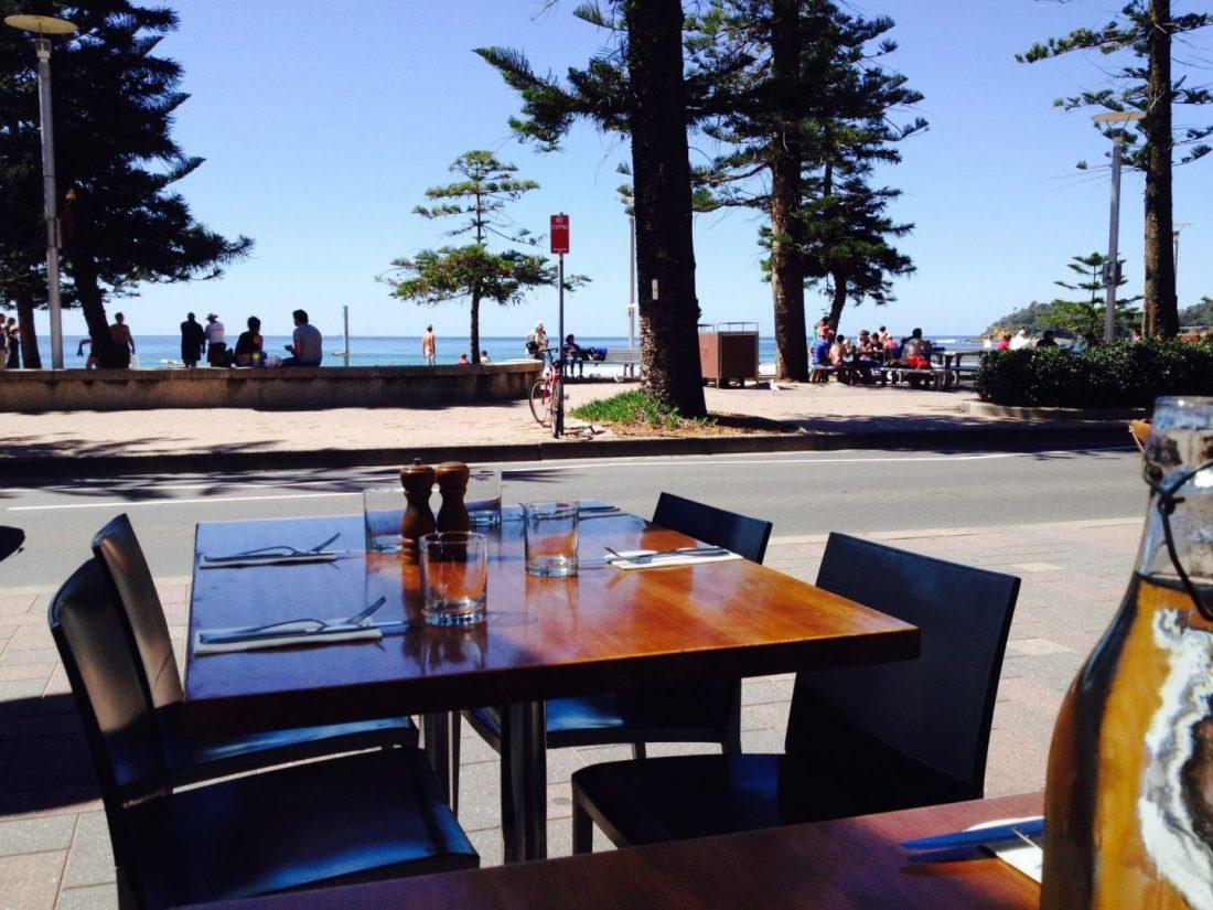 Al fresco dining at Manly Grill, Sydney