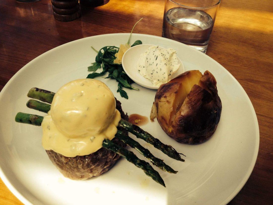 Steak Oscar at Manly Grill, Sydney