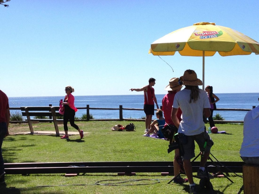 Filming Home and Away near Sydney