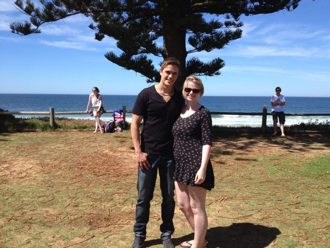 Laura with Kyle from Home and Away