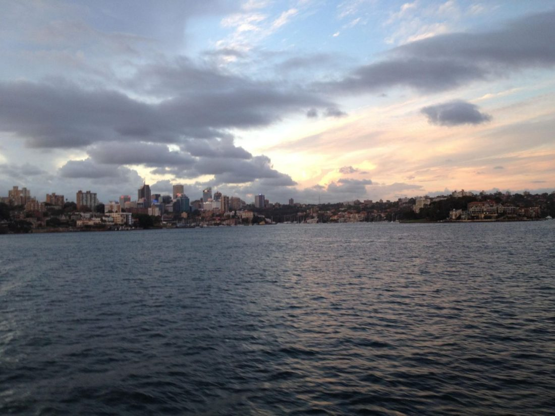 Sunset from Manly Ferry