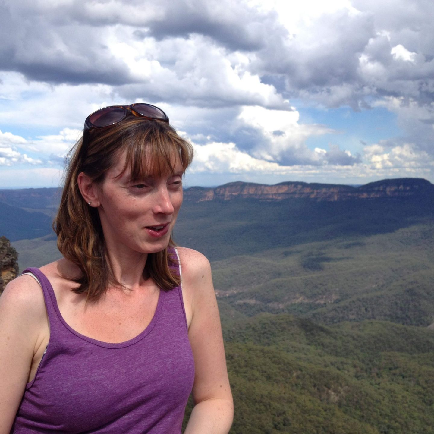 Mum with the Blue Mountains, Sydney