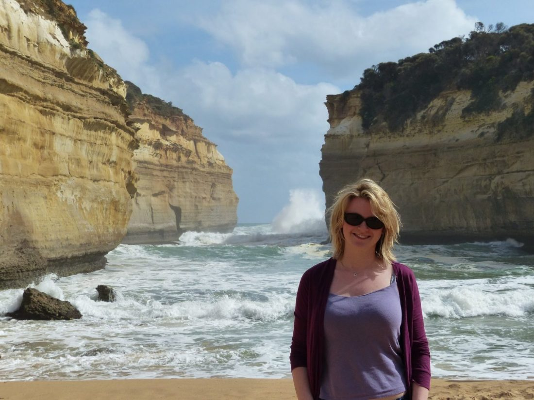 Laura at Loch Ard Gorge
