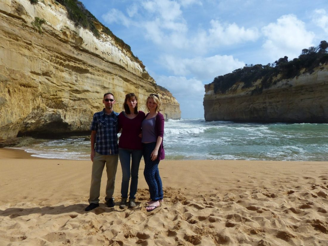 Family at Loch Ard Gorge