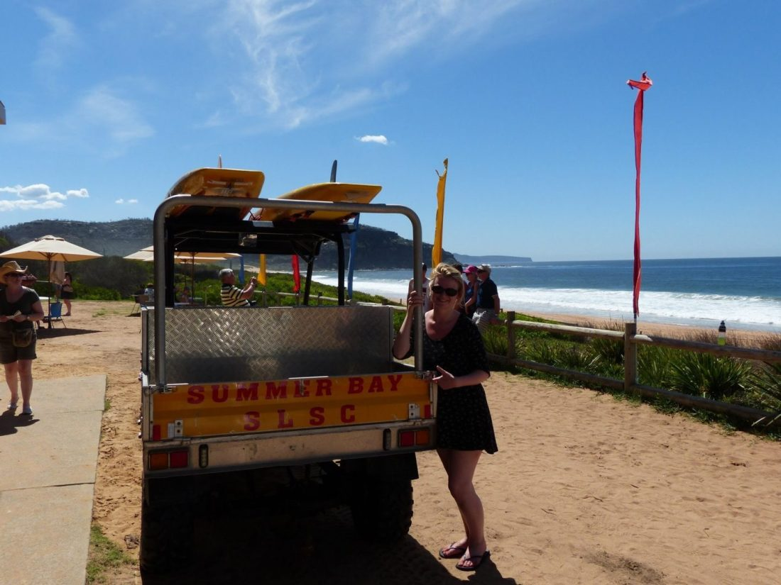 Laura with the Home and Away set