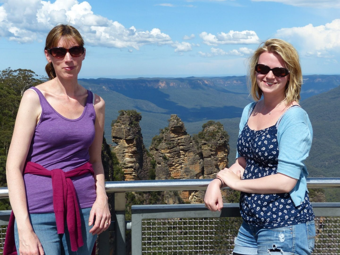 Mum and Laura at the Blue Mountains, Sydney