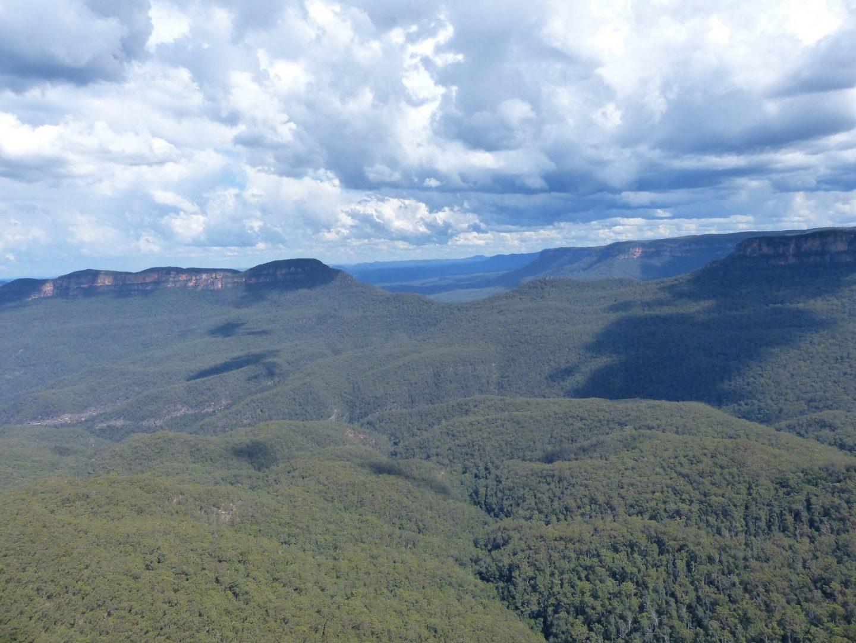 View across the Blue Mountains, Australia