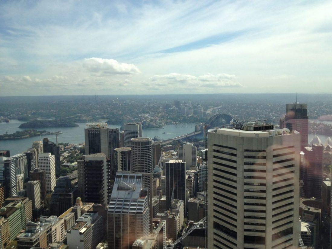 Sydney Harbour Bridge from Sydney Tower Eye