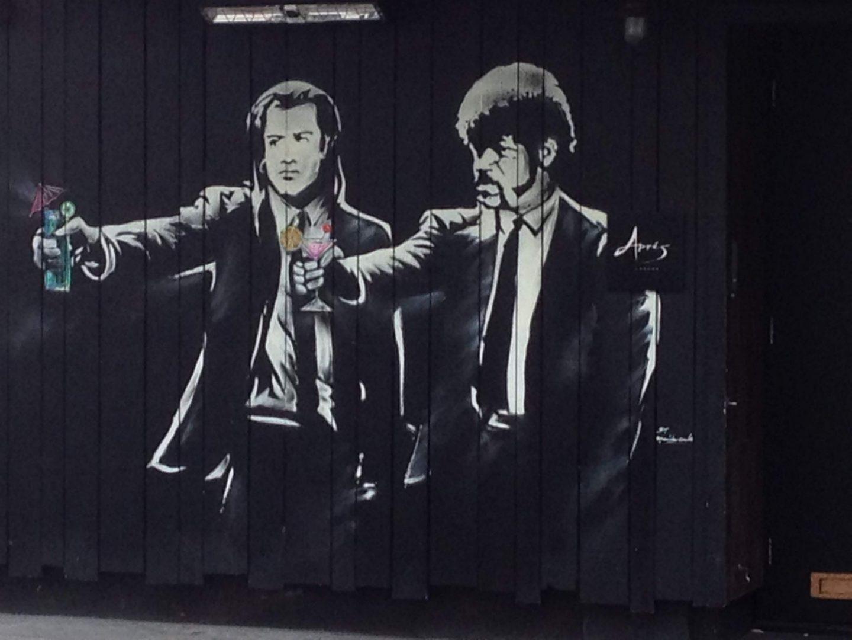 Pulp Fiction street art in London