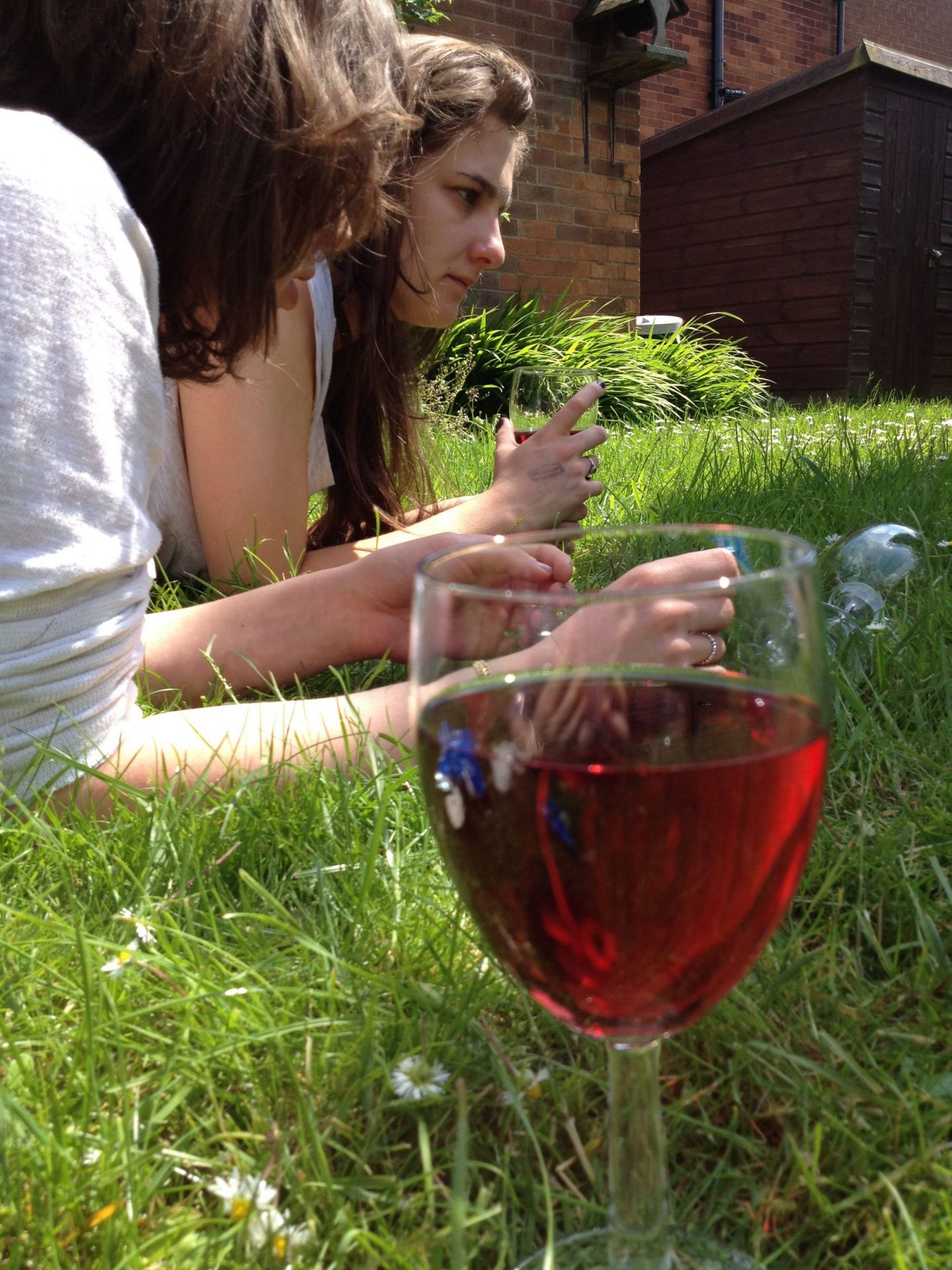 Drinks on the lawn in Manchester