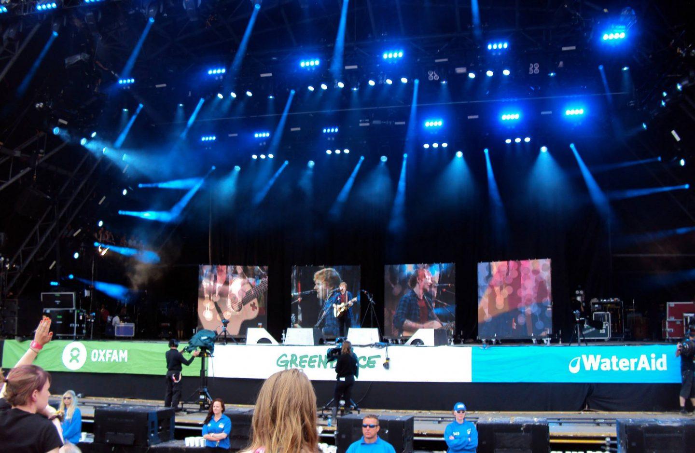 Ed Sheeran's set at Glastonbury