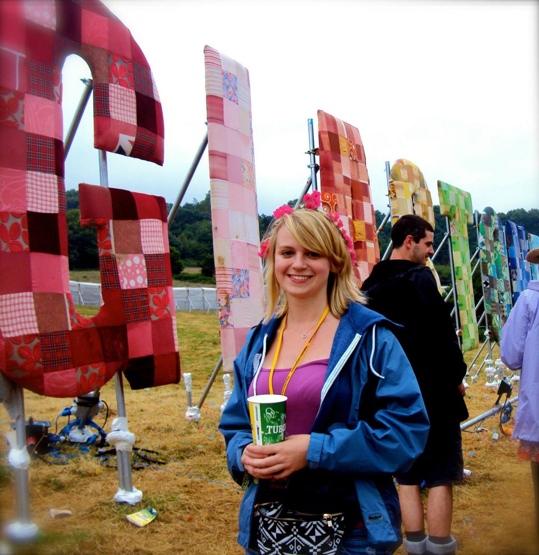 Laura at Glastonbury Festival