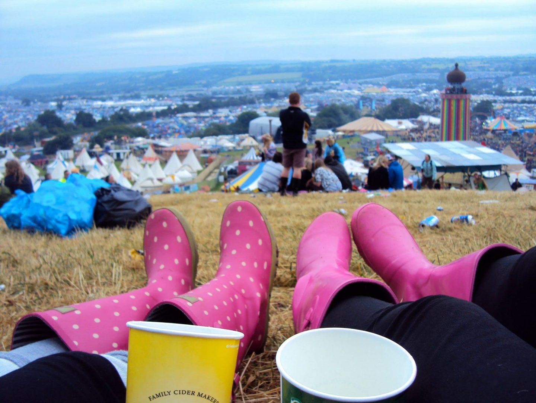 View over Glastonbury Festival