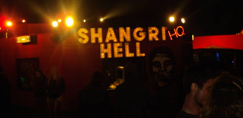 Heaven and hell theme at Shangri La, Glastonbury