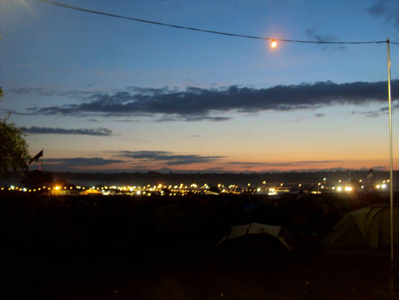 Sunrise at Glastonbury Festival