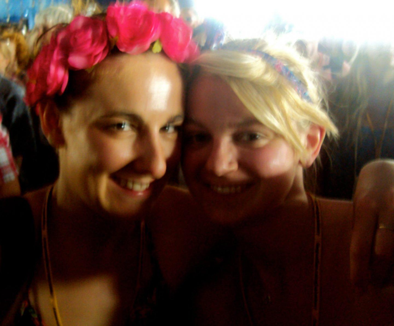 Girls at Glastonbury Festival