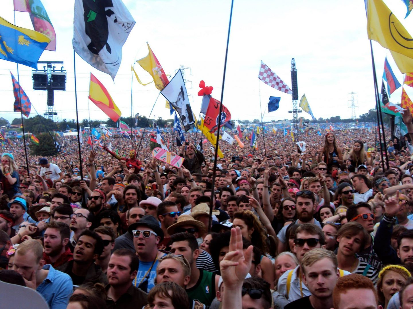 The crowd at Glastonbury Festival's Pyramid Stage