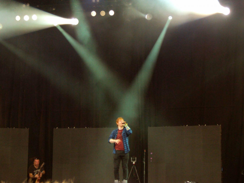 Ed Sheeran at Glastonbury Festival