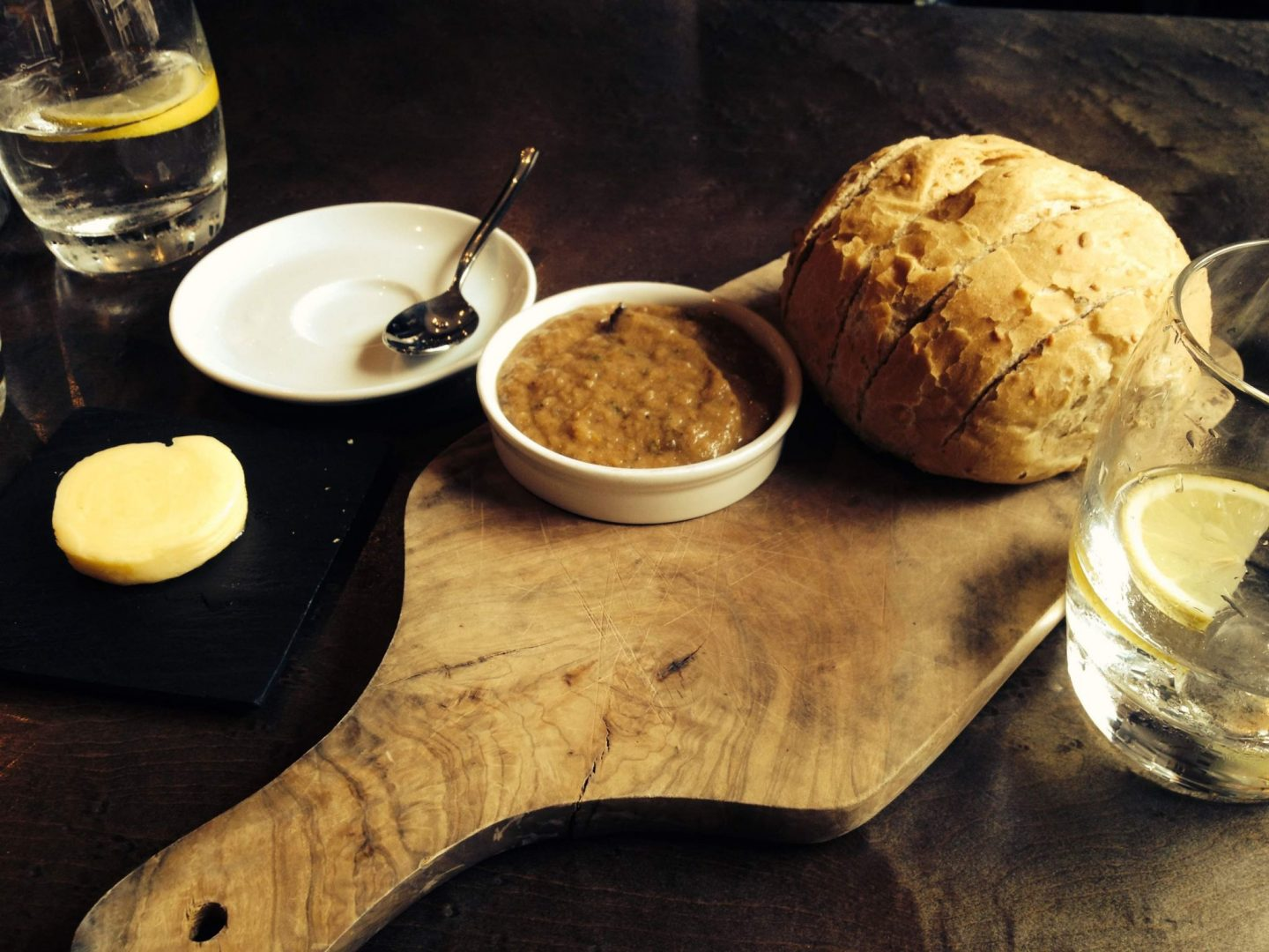 Bread and dip to start at Kyloe
