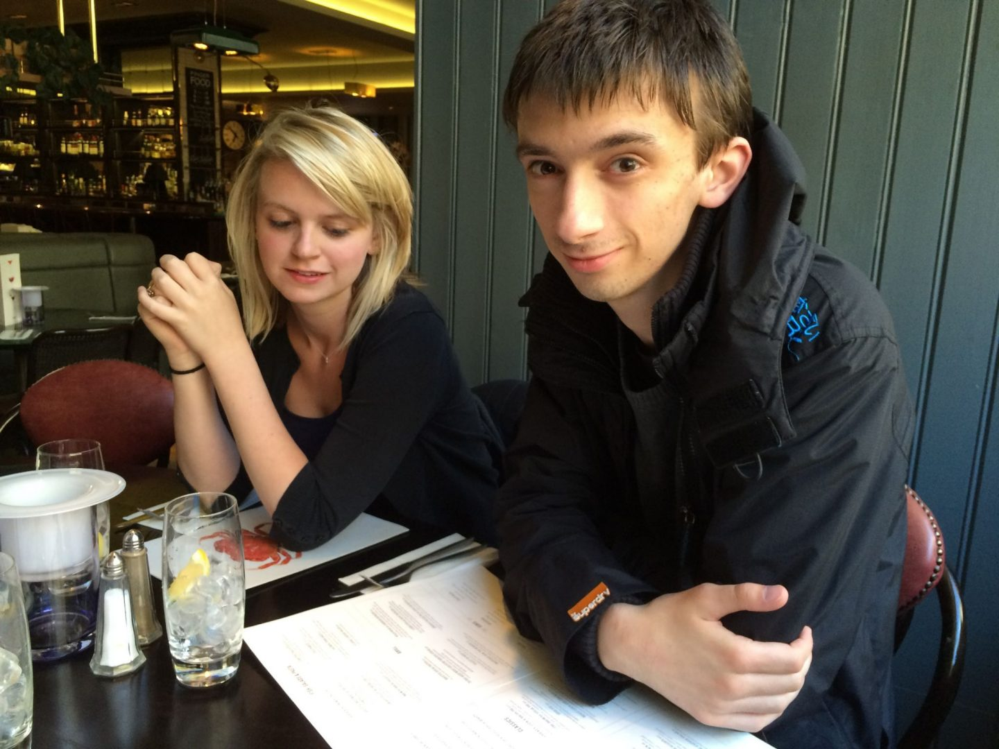 Laura and Jack in Browns, Newcastle