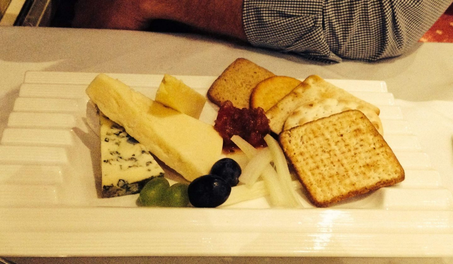 Welsh cheeseboard with chutney