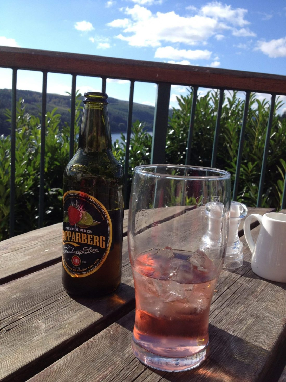 Cider overlooking Lake Vyrnwy, Wales