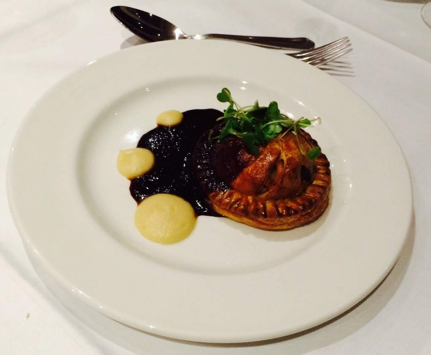 Pigeon pithivier for starters