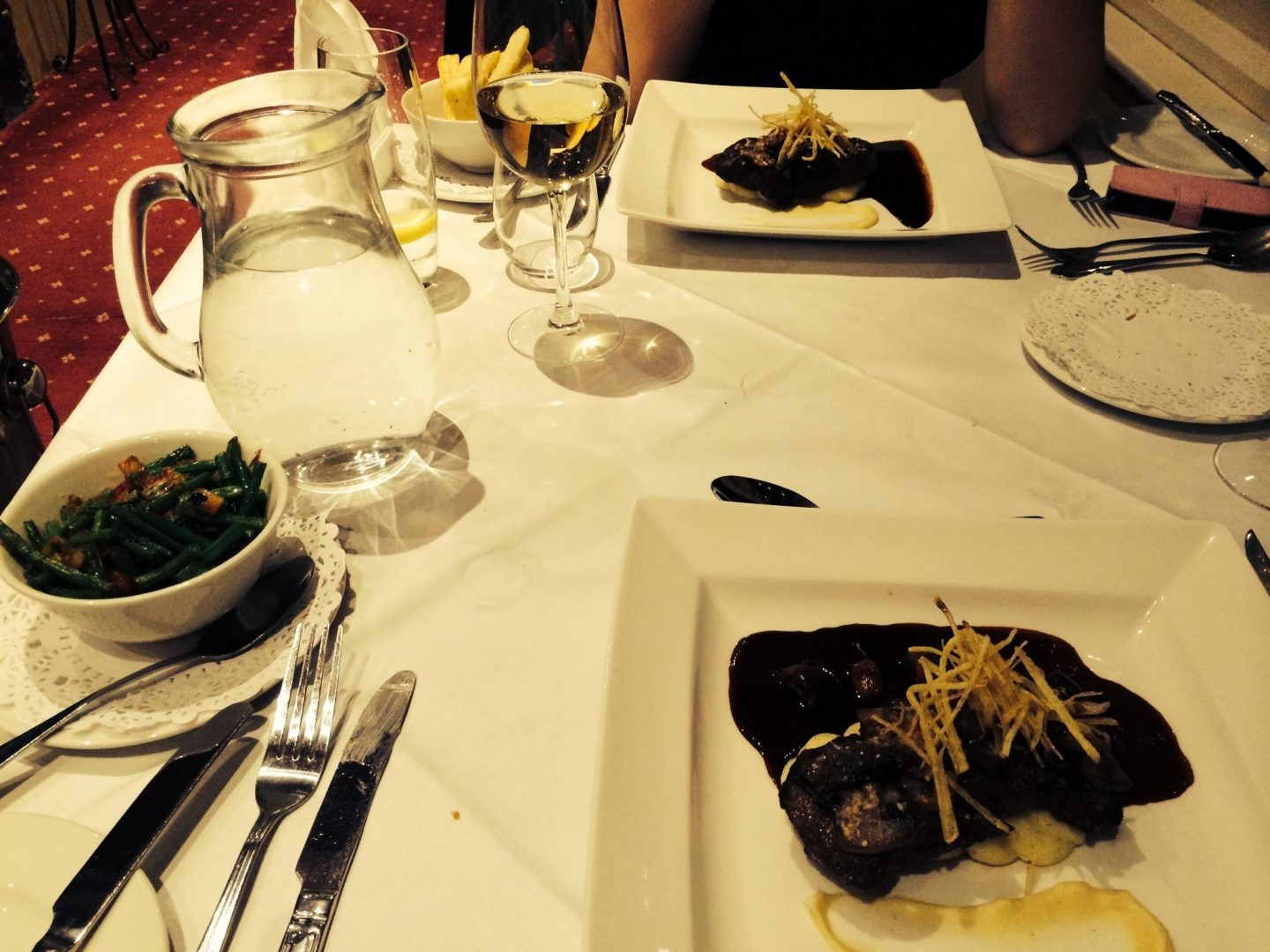 Main courses at Lake Vyrnwy, Wales
