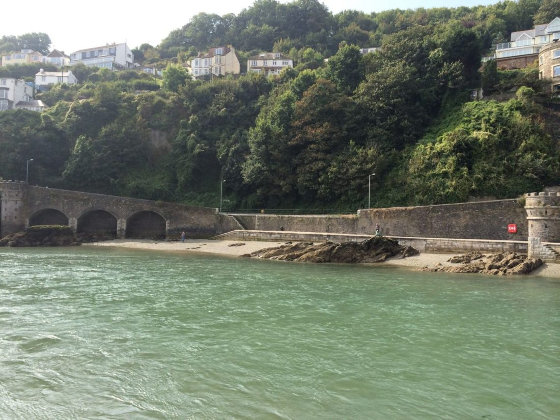 Along the seaside in Looe, Cornwall