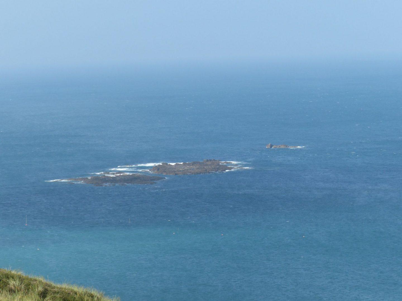 Islands off Sennen Cove Beach, Cornwall