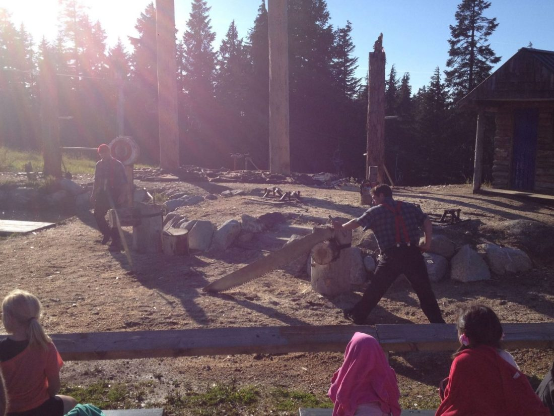 Lumberjack show in Vancouver