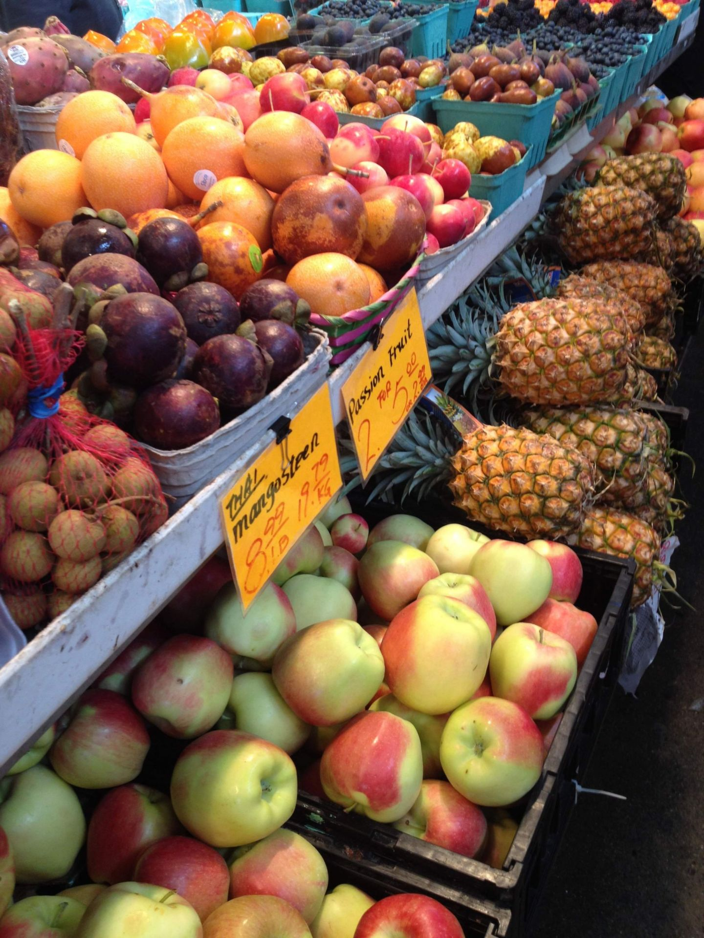 Fresh fruit on Granville Island