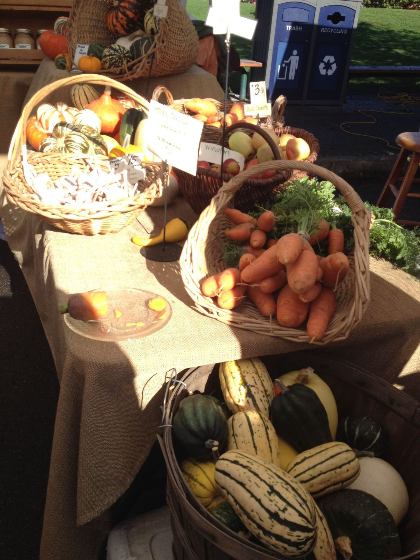 Organic produce at the Saturday market